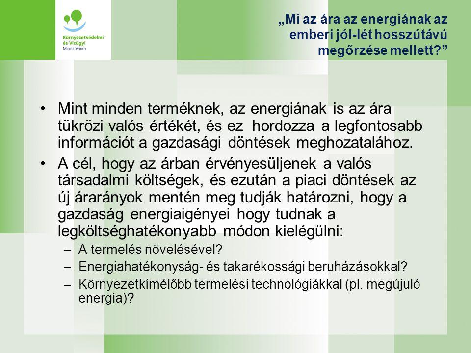 """""""Mi az ára az energiának az emberi jól-lét hosszútávú megőrzése mellett"""