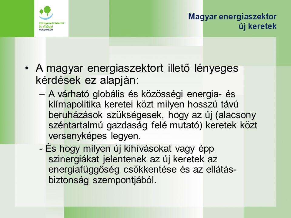 Magyar energiaszektor új keretek