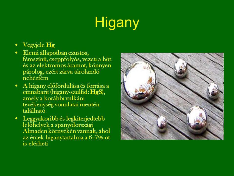 Higany Vegyjele Hg.