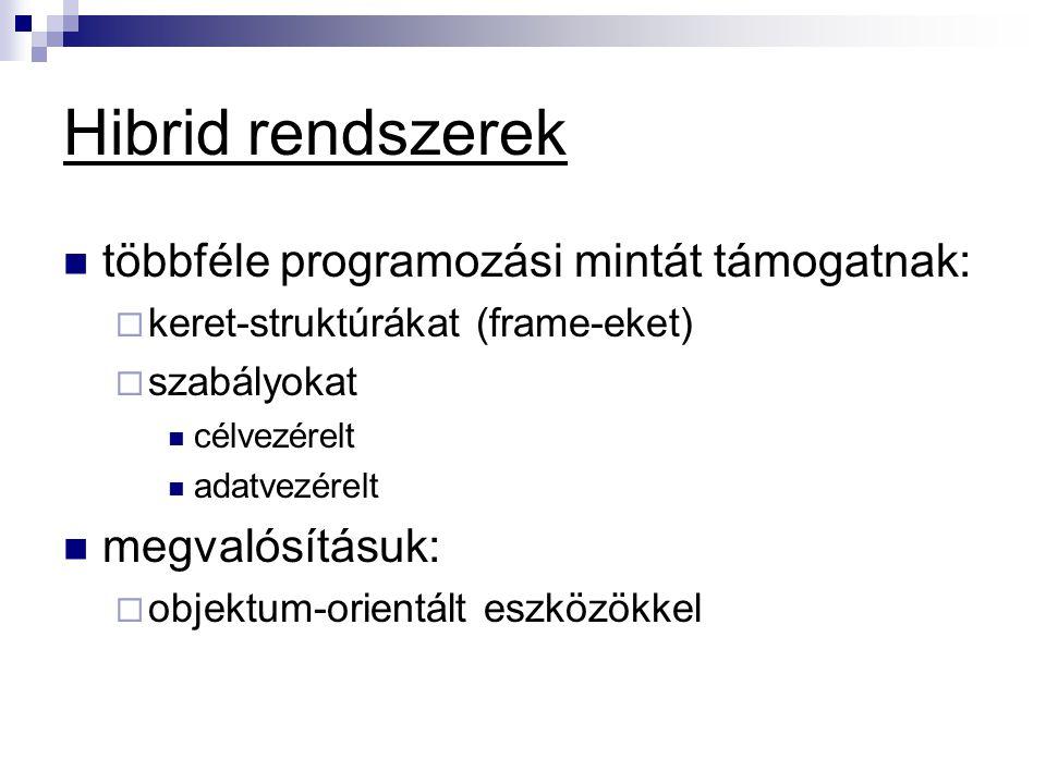 Hibrid rendszerek többféle programozási mintát támogatnak: