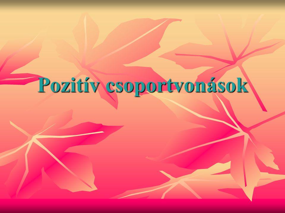 Pozitív csoportvonások