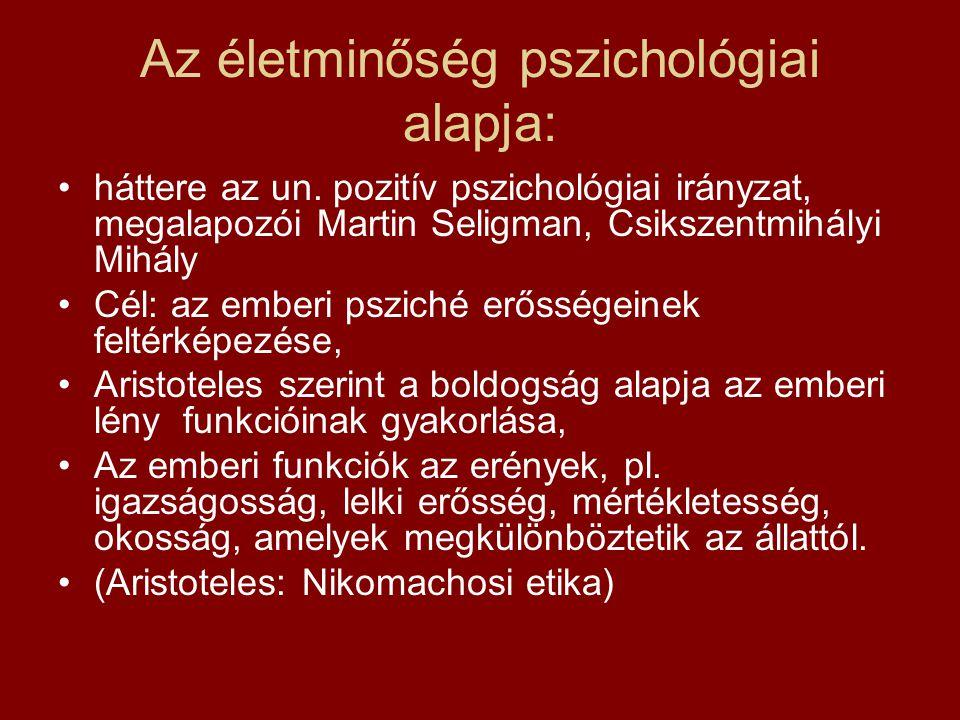 Az életminőség pszichológiai alapja: