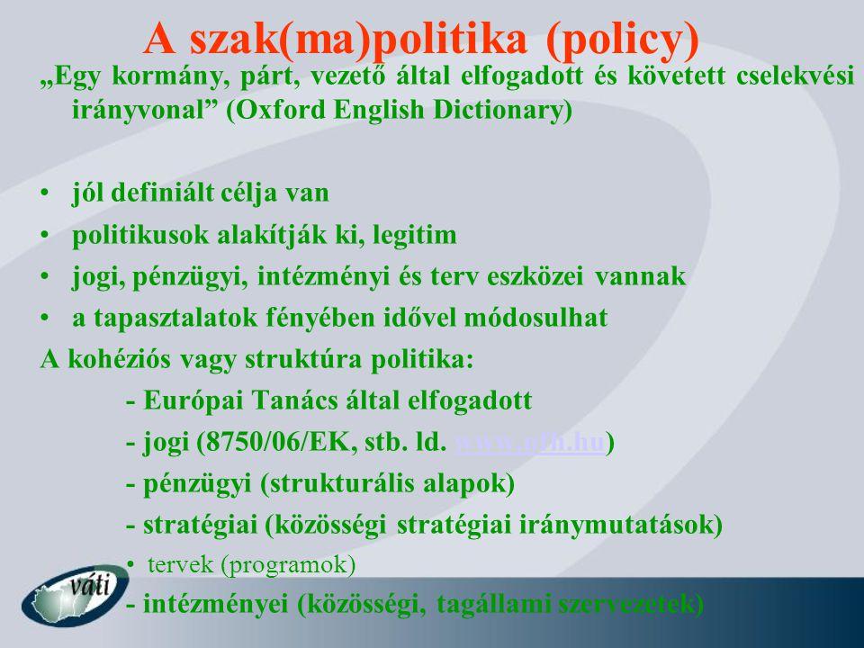A szak(ma)politika (policy)