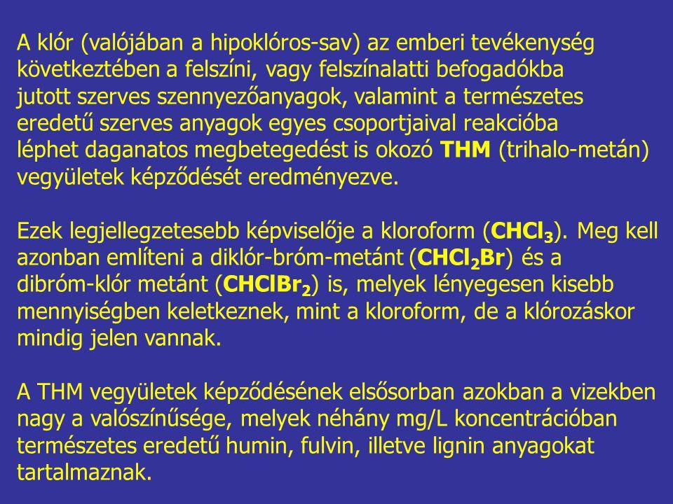 A klór (valójában a hipoklóros-sav) az emberi tevékenység