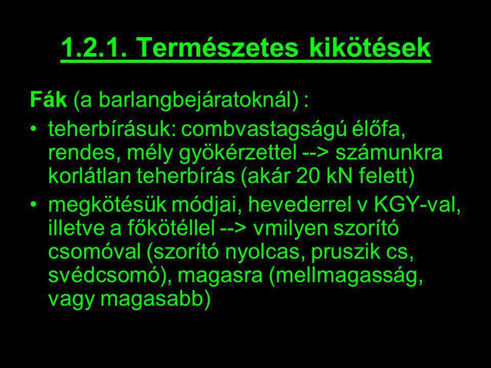 1.2.1. Természetes kikötések