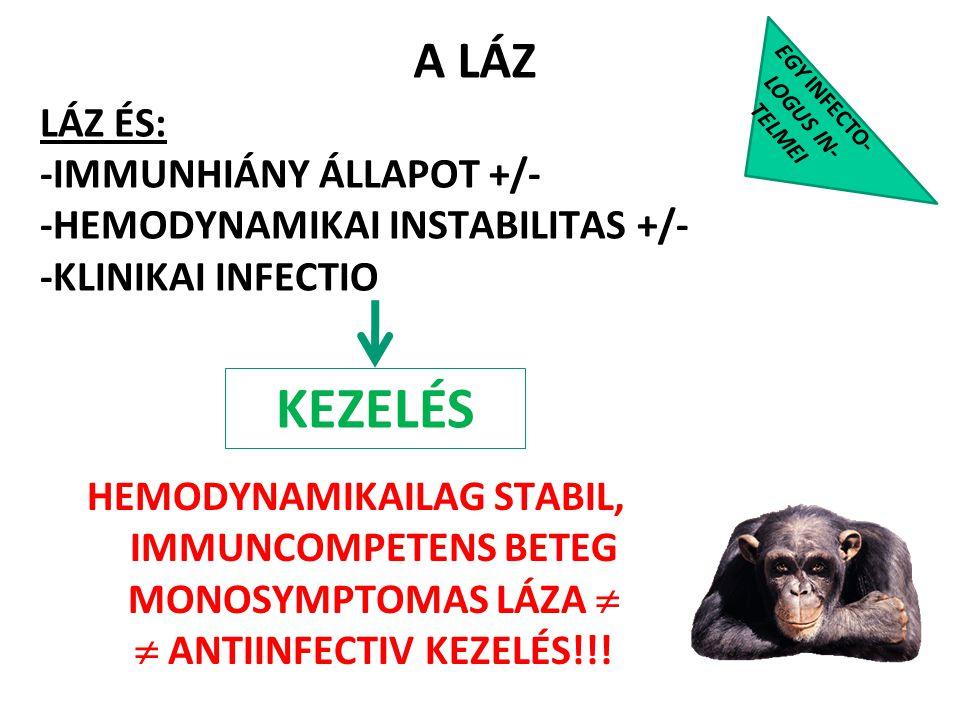 A LÁZ EGY INFECTO- LOGUS IN- TELMEI. LÁZ ÉS: -IMMUNHIÁNY ÁLLAPOT +/- -HEMODYNAMIKAI INSTABILITAS +/- -KLINIKAI INFECTIO.