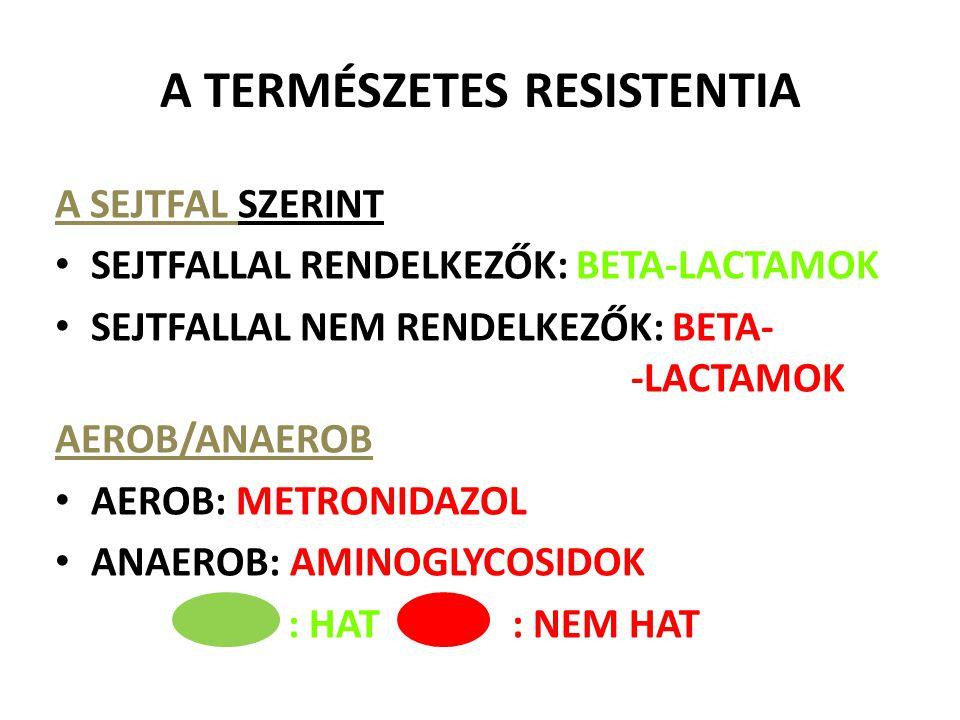 A TERMÉSZETES RESISTENTIA
