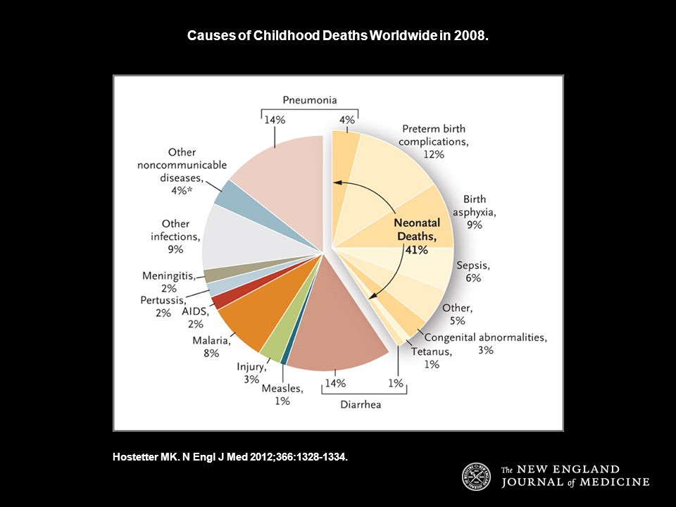 Causes of Childhood Deaths Worldwide in 2008.