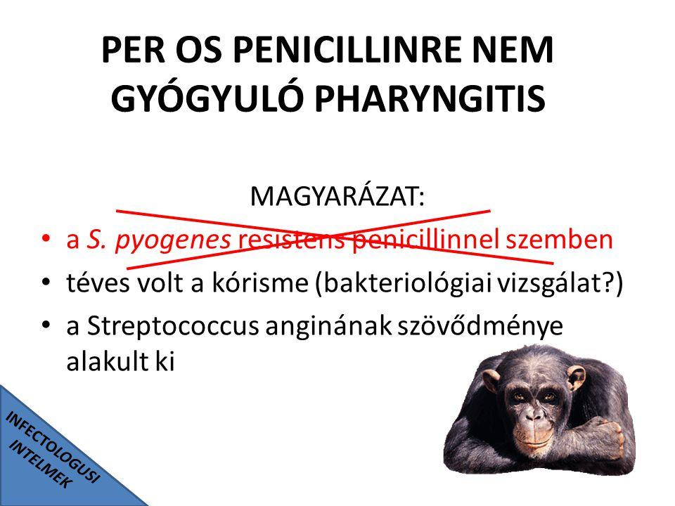 PER OS PENICILLINRE NEM GYÓGYULÓ PHARYNGITIS INFECTOLOGUSI INTELMEK