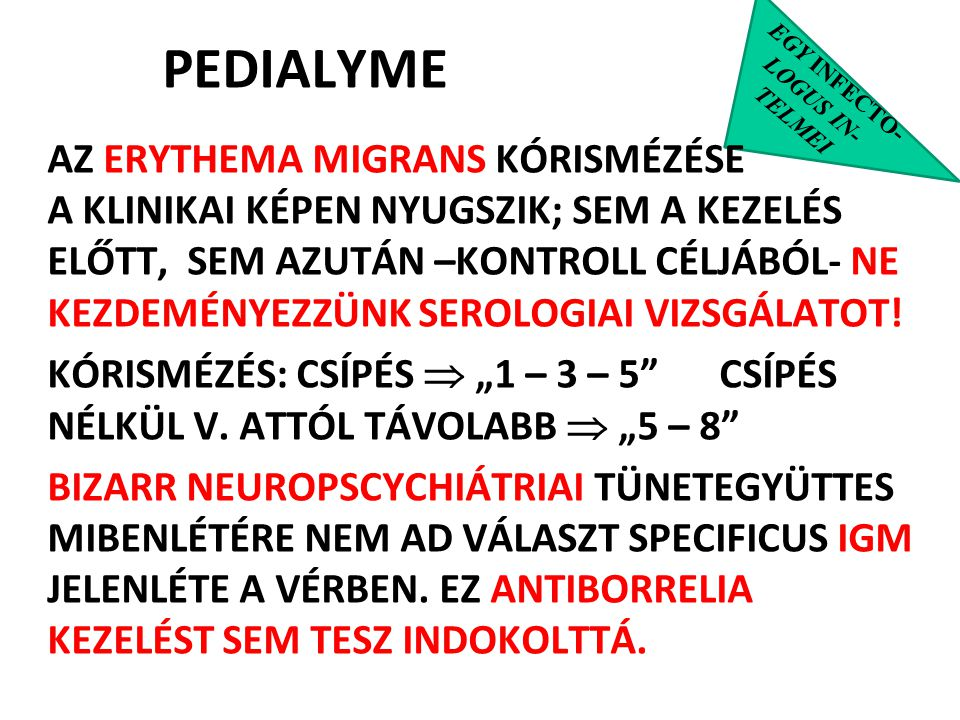 PEDIALYME EGY INFECTO- LOGUS IN- TELMEI.