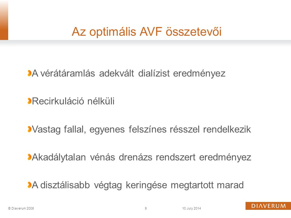 Az optimális AVF összetevői