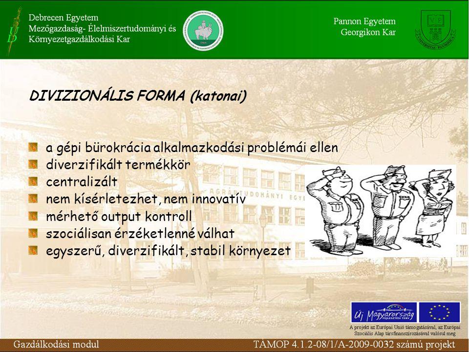DIVIZIONÁLIS FORMA (katonai)