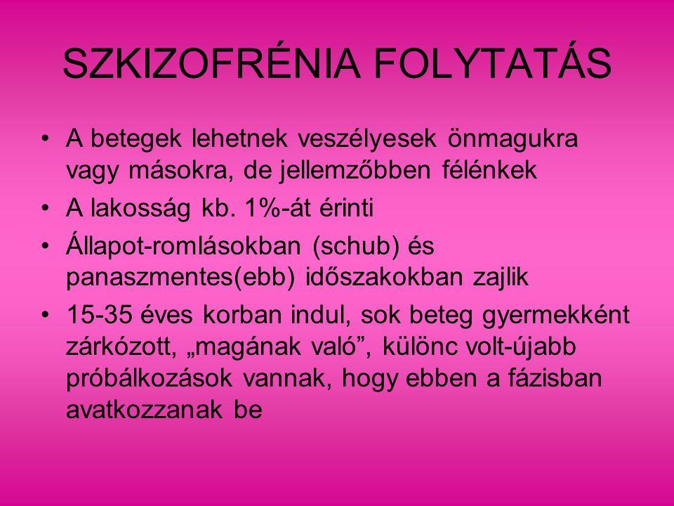 SZKIZOFRÉNIA FOLYTATÁS