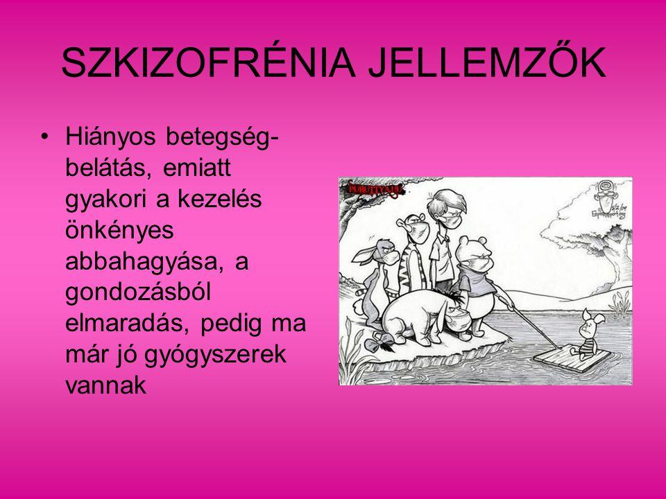 SZKIZOFRÉNIA JELLEMZŐK