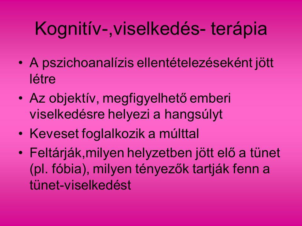 Kognitív-,viselkedés- terápia