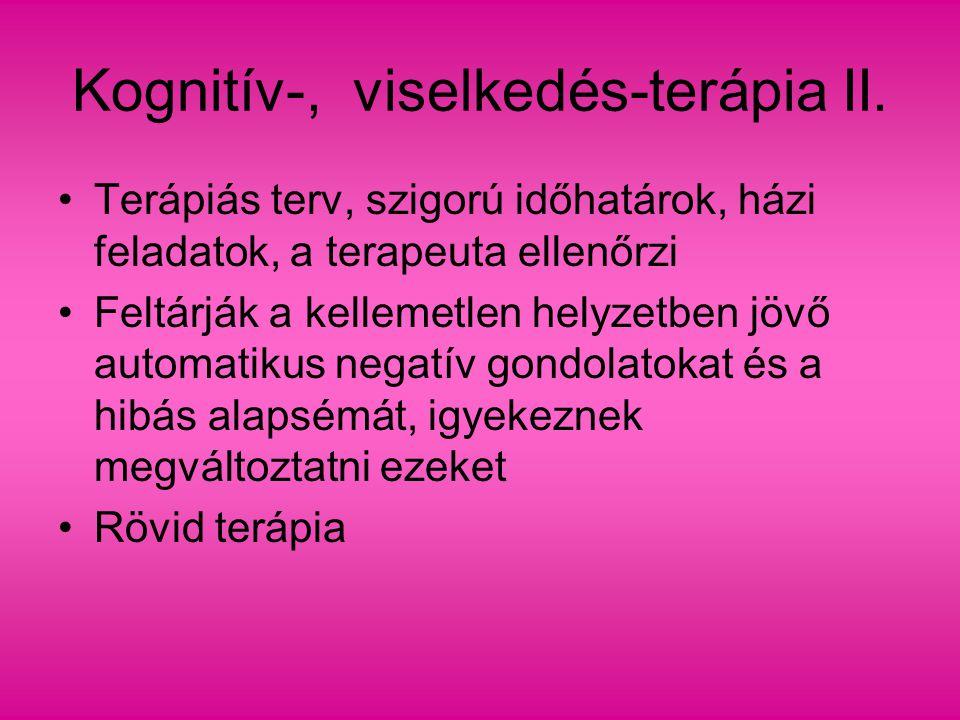Kognitív-, viselkedés-terápia II.