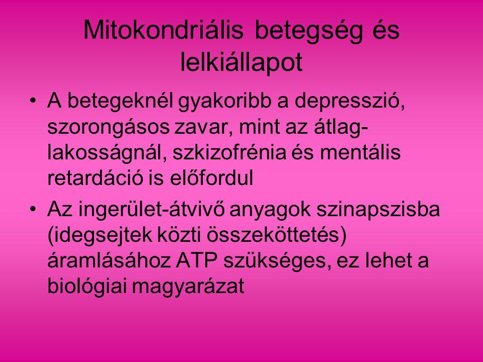 Mitokondriális betegség és lelkiállapot
