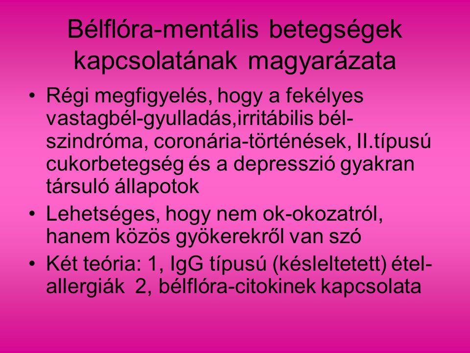 Bélflóra-mentális betegségek kapcsolatának magyarázata