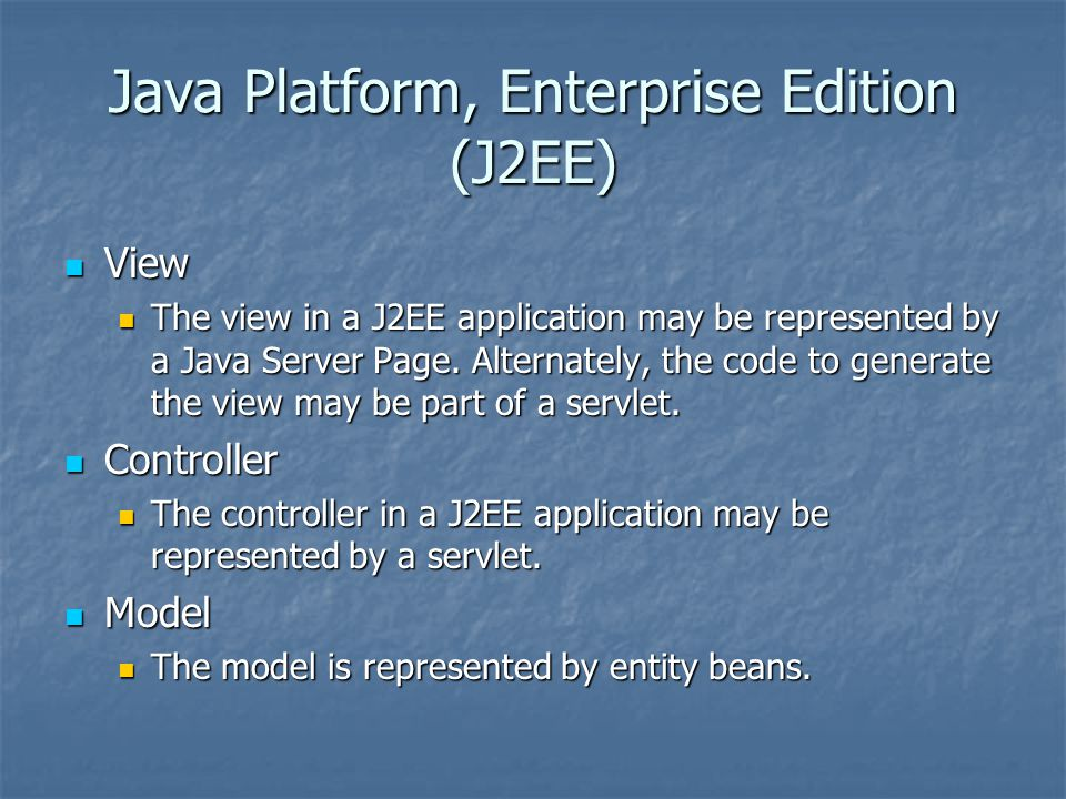 Java Platform, Enterprise Edition (J2EE)