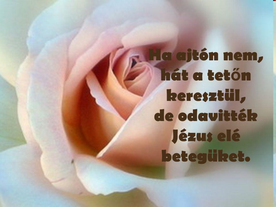 Ha ajtón nem, hát a tetőn keresztül, de odavitték Jézus elé betegüket.
