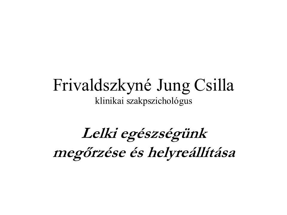 Frivaldszkyné Jung Csilla klinikai szakpszichológus