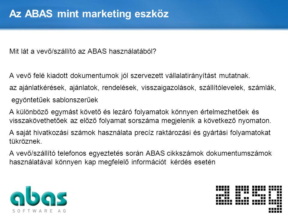 Az ABAS mint marketing eszköz