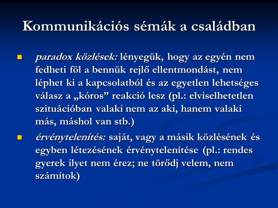 Kommunikációs sémák a családban