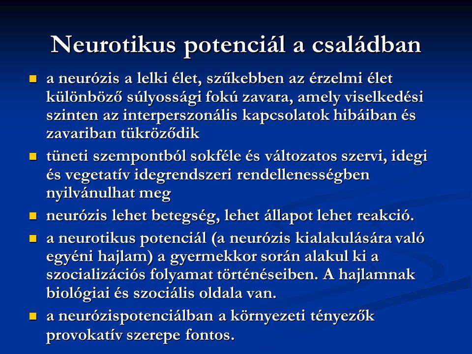 Neurotikus potenciál a családban