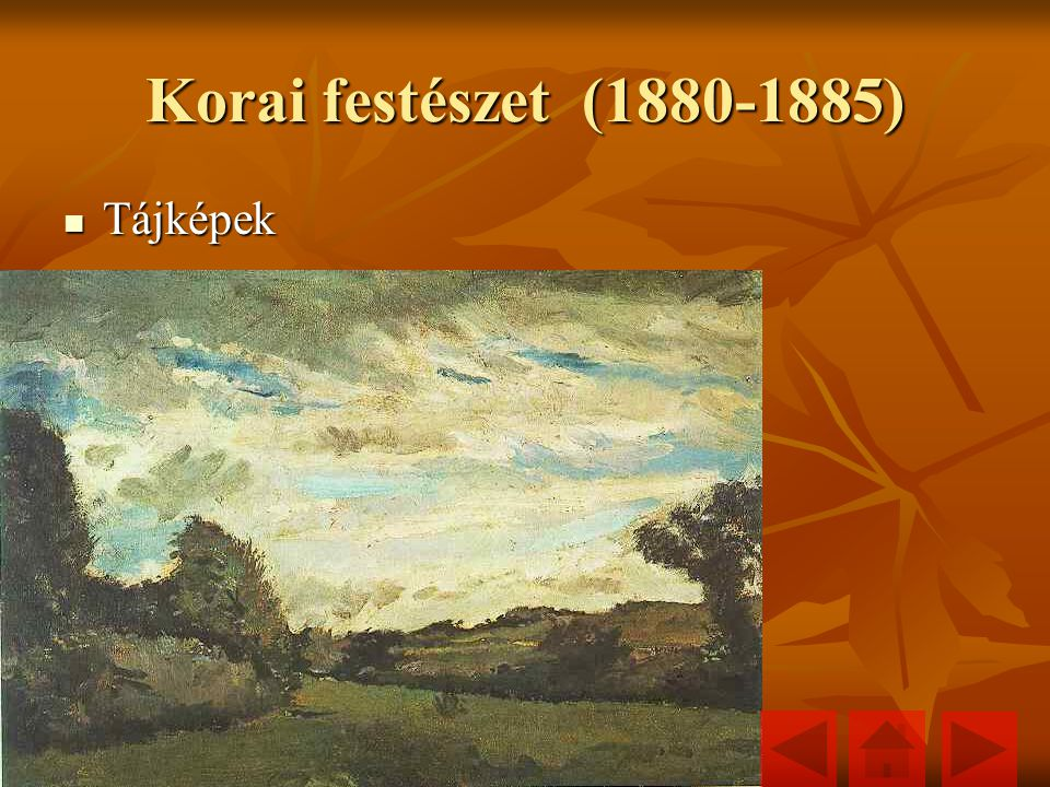 Korai festészet (1880-1885) Tájképek