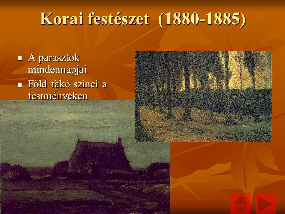 Korai festészet (1880-1885) A parasztok mindennapjai