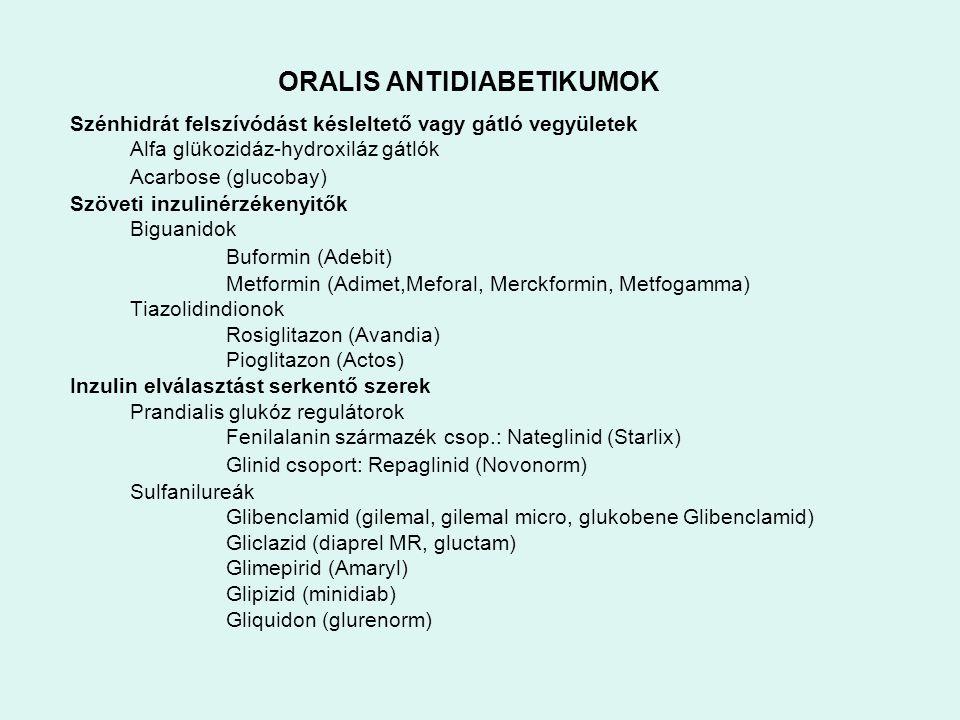 ORALIS ANTIDIABETIKUMOK
