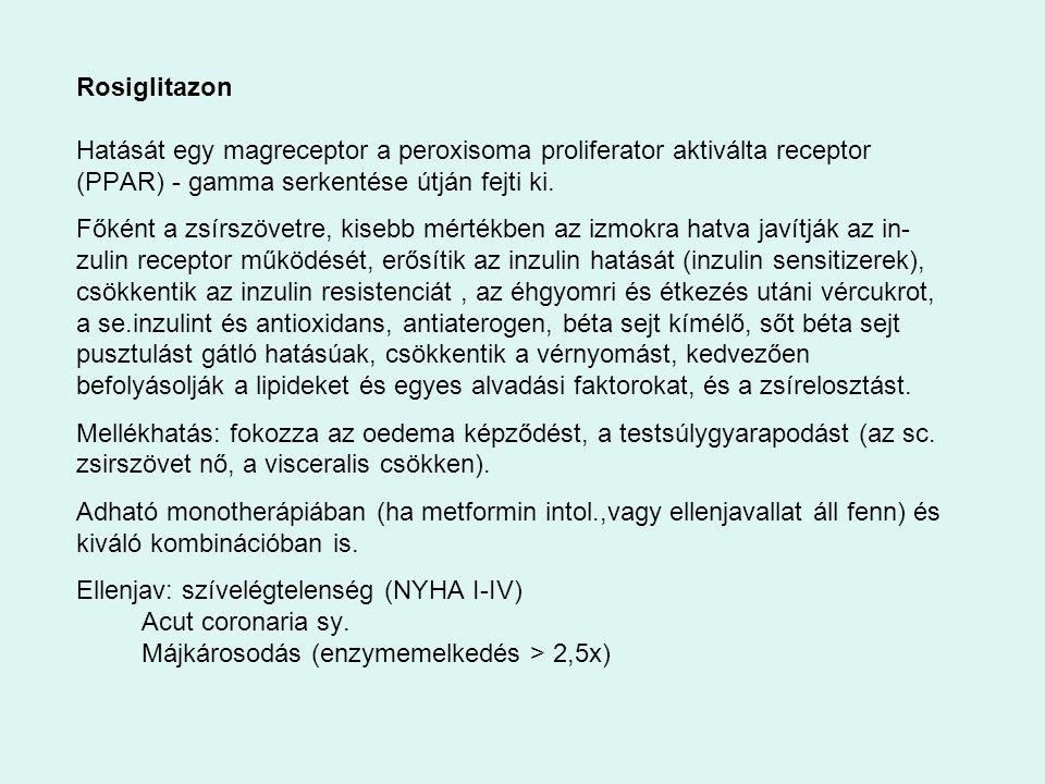 Rosiglitazon Hatását egy magreceptor a peroxisoma proliferator aktiválta receptor (PPAR) - gamma serkentése útján fejti ki.