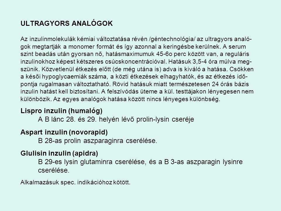 Lispro inzulin (humalóg)