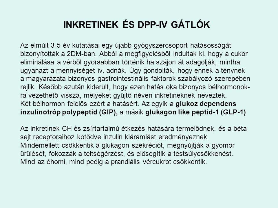 INKRETINEK ÉS DPP-IV GÁTLÓK
