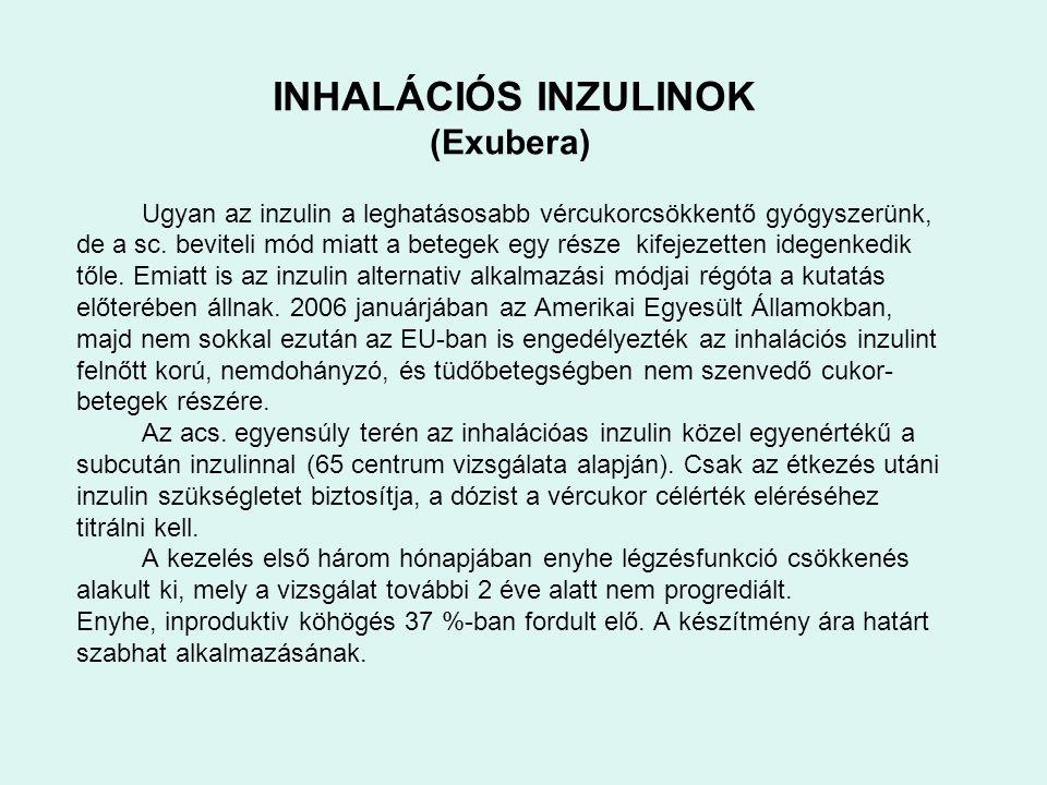 (Exubera) INHALÁCIÓS INZULINOK