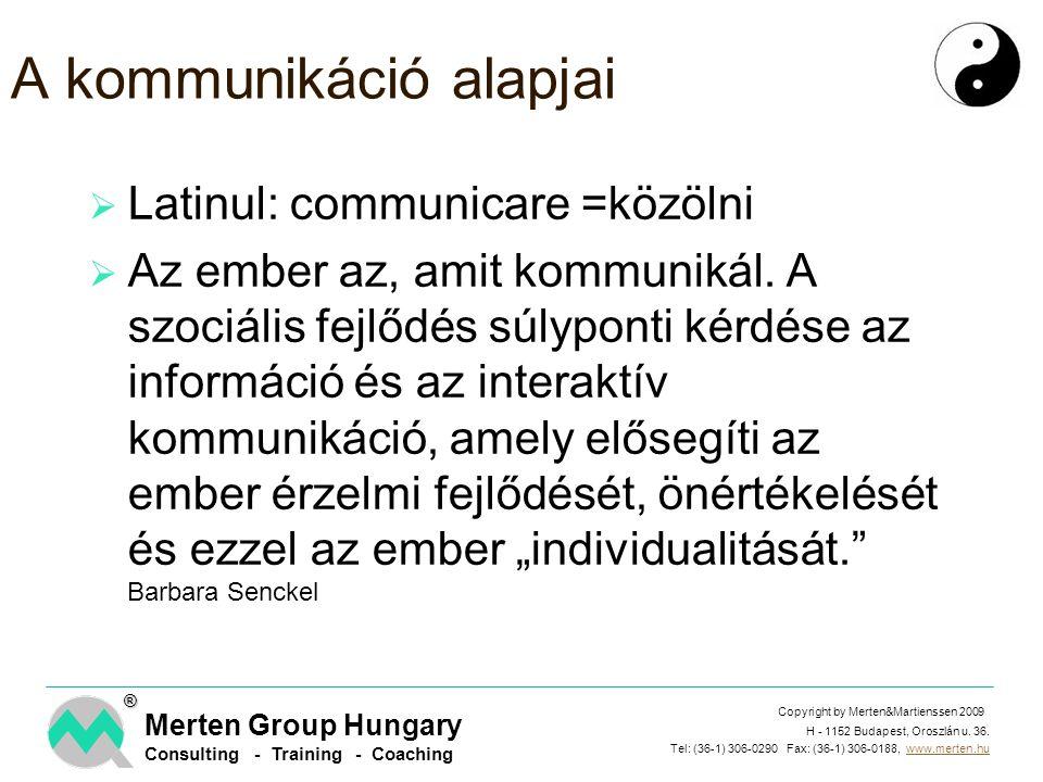 A kommunikáció alapjai
