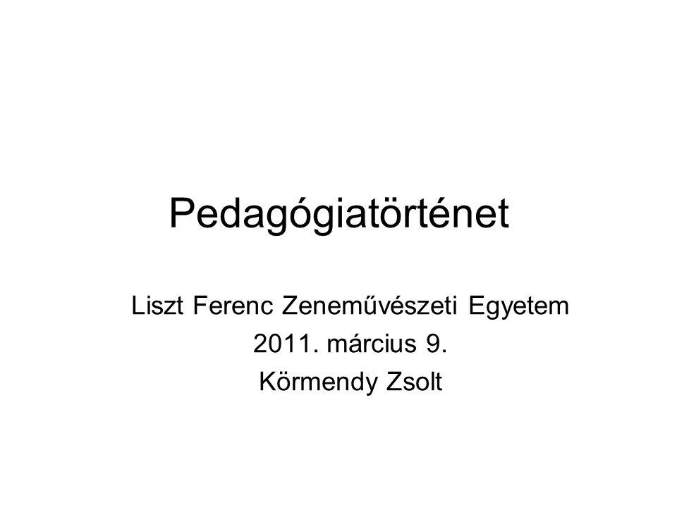 Liszt Ferenc Zeneművészeti Egyetem 2011. március 9. Körmendy Zsolt