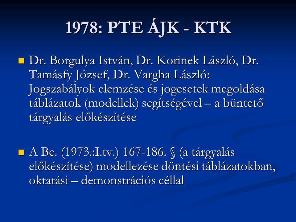 1978: PTE ÁJK - KTK