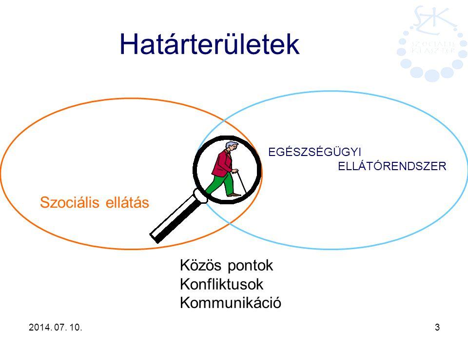 Határterületek Szociális ellátás Közös pontok Konfliktusok
