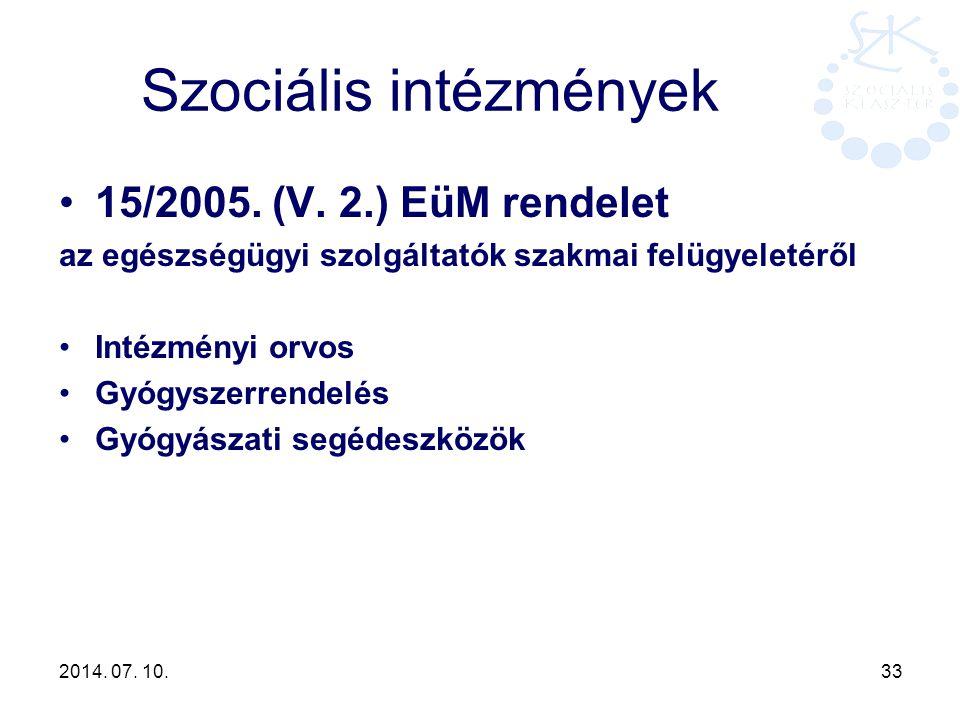 Szociális intézmények