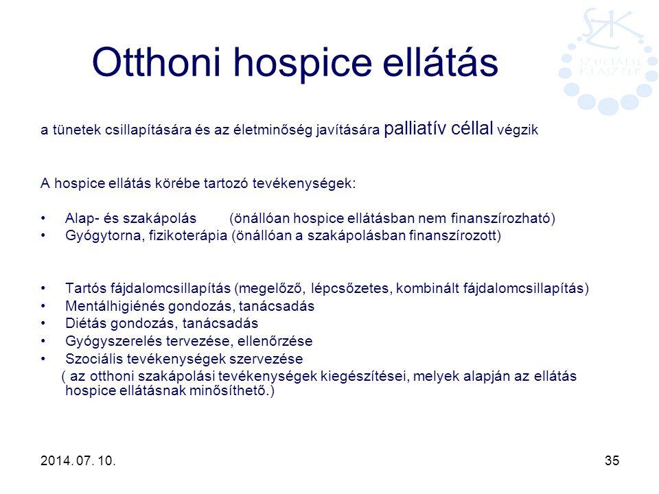 Otthoni hospice ellátás