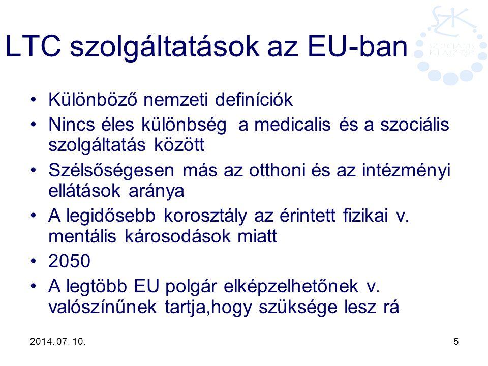 LTC szolgáltatások az EU-ban