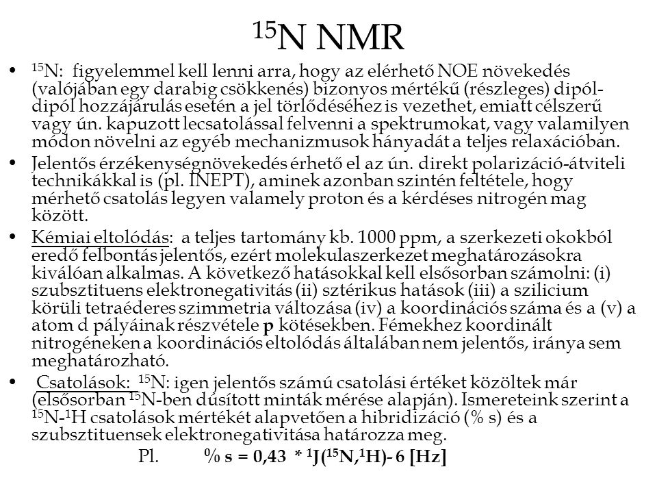 15N NMR