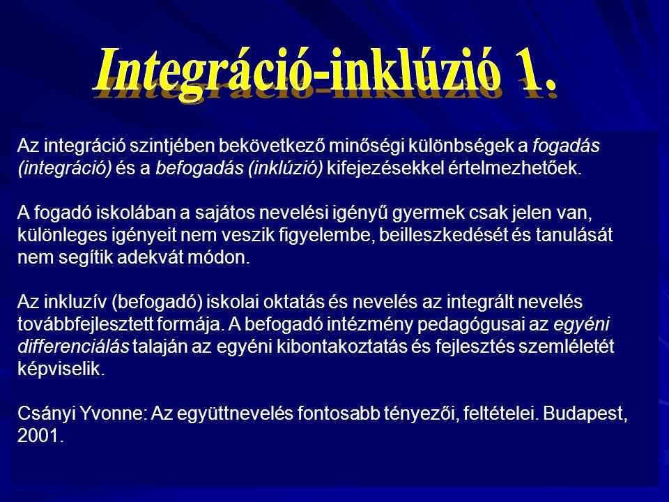 Integráció-inklúzió 1.