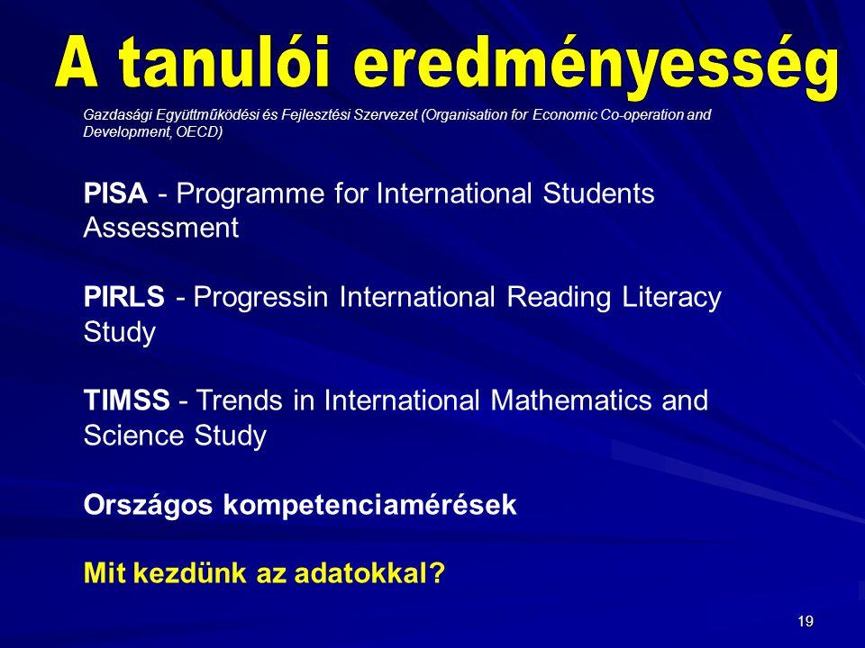 A tanulói eredményesség