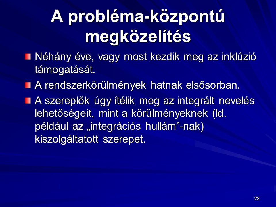 A probléma-központú megközelítés