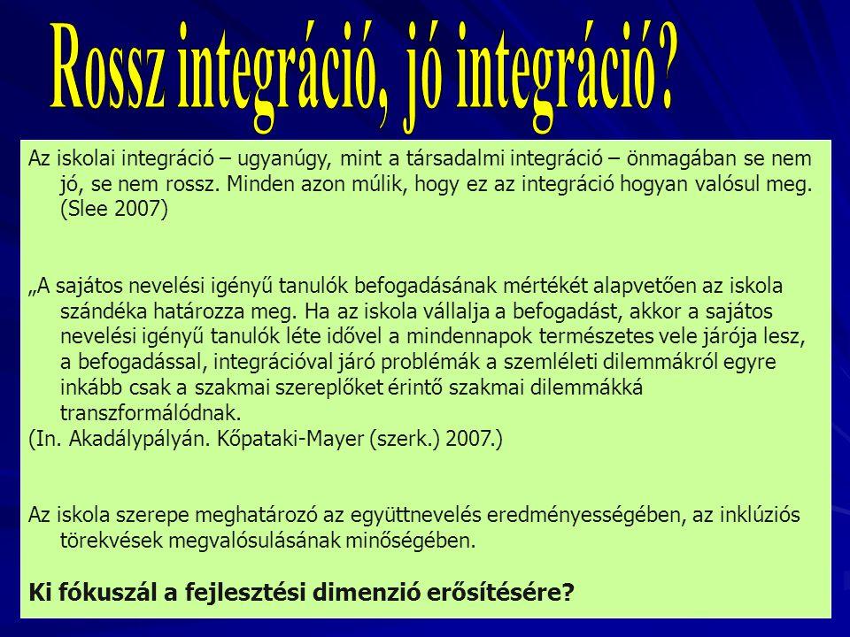 Rossz integráció, jó integráció