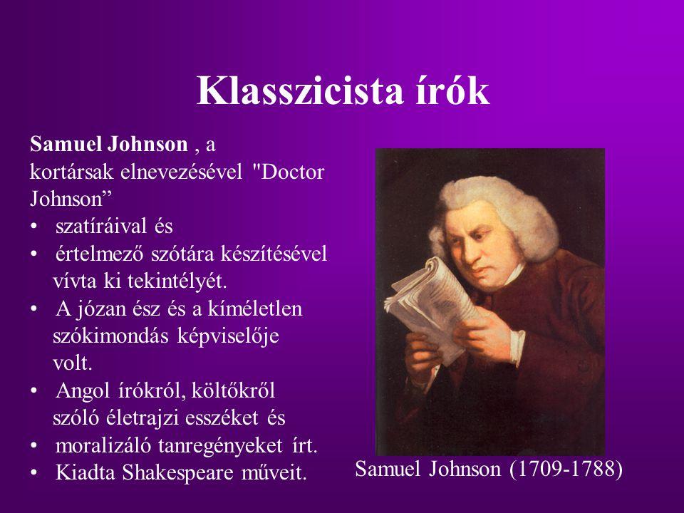 Klasszicista írók Samuel Johnson , a kortársak elnevezésével Doctor