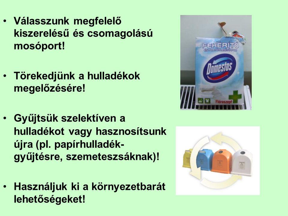 Válasszunk megfelelő kiszerelésű és csomagolású mosóport!