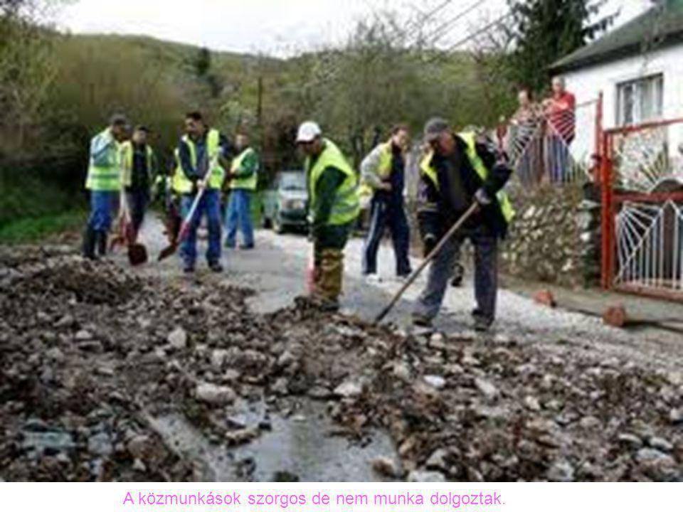 A közmunkások szorgos de nem munka dolgoztak.